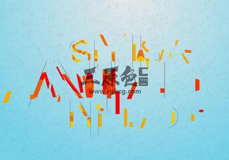 AE模板 英文字母卡通图形动画显示 Stylish Animated Typeface Ae 模板-第1张