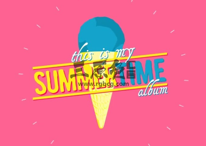 AE模板-夏季卡通图形动画元素 Summertime Album Ae 模板-第1张