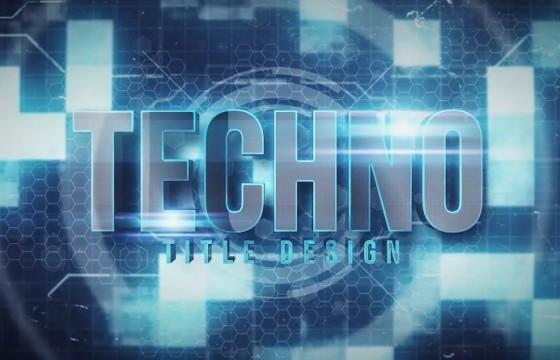 Pr Mogrt基本图形模板预设 高科技HUD文字标题 Techno Title