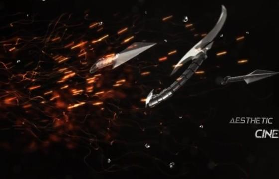 AE模板 古代冷兵器文字标题动画展示 The Assassin