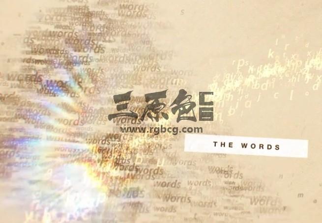 AE模板 字母单词飞舞 图文幻灯片 The Words Slideshow Ae 模板-第1张