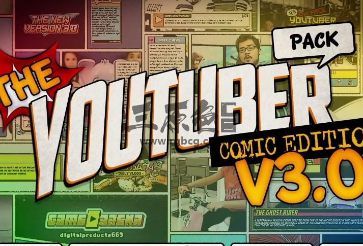 AE Pr图形模板 卡通手绘漫画涂鸦动画 The YouTuber Pack v3 Ae 模板-第1张