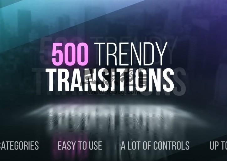 AE模板 500个创意无缝转场过渡动画 VideoHive Transitions Ae 模板-第1张