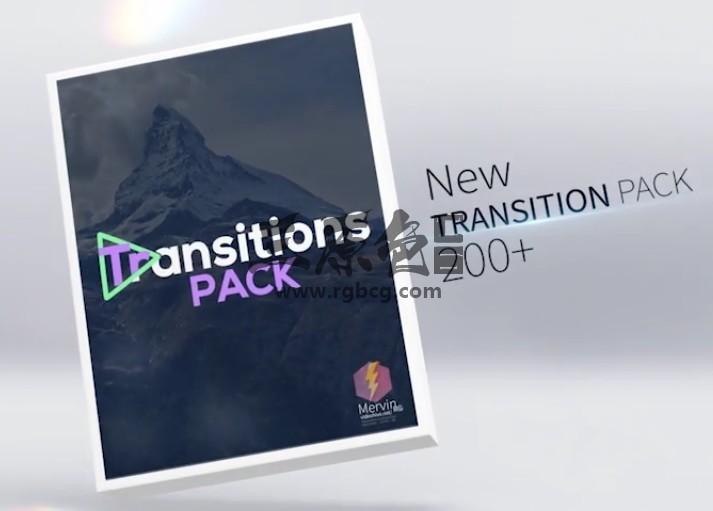 AE模板-创意视频图片无缝转场过渡切换效果 Transitions Ae 模板-第1张
