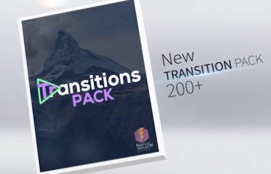 AE模板-创意视频图片无缝转场过渡切换效果 Transitions