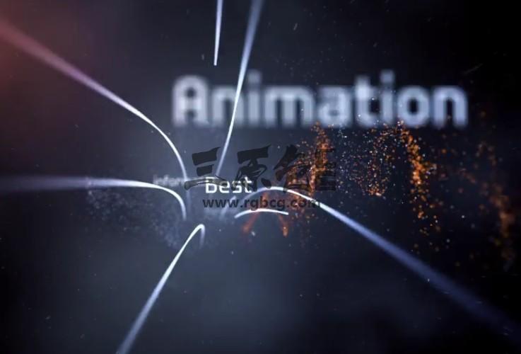 AE模板-高科技线条关键字缠绕LOGO动画 Twine Hi-Tech Logo Reveal Ae 模板-第1张