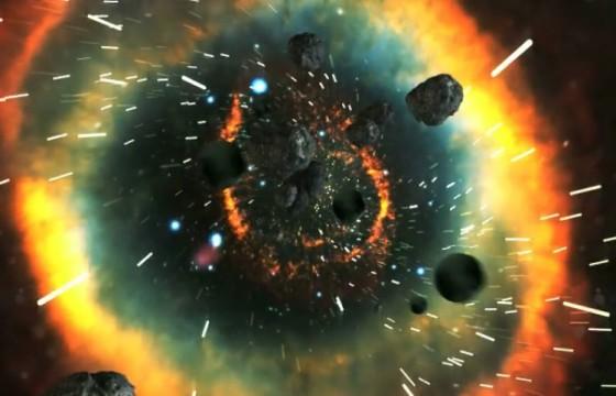 AE模板:宇宙俯冲LOGO文字展示动画 VideoHive Universal