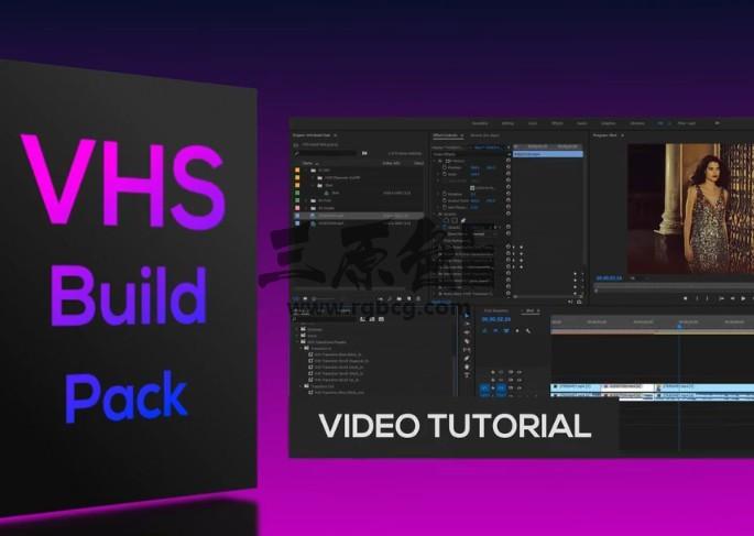 Pr 模板预设 旧电影 取景框动画模板预设 VHS Build Pack Pr 模板-第1张