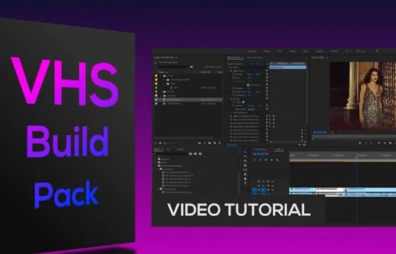 Pr 模板预设 旧电影 取景框动画模板预设 VHS Build Pack