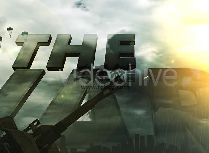 AE模板 战争主题元素模板 文字标题片头 Realistic Military Intro Ae 模板-第1张