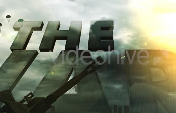 AE模板 战争主题元素模板 文字标题片头 Realistic Military Intro