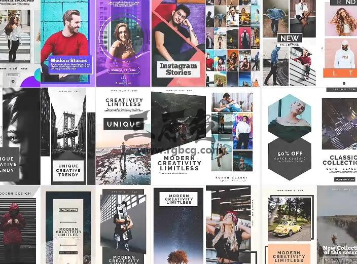 AE模板 手机朋友圈竖屏动态视频宣传广告 instagram Stories v5 Ae 模板-第1张