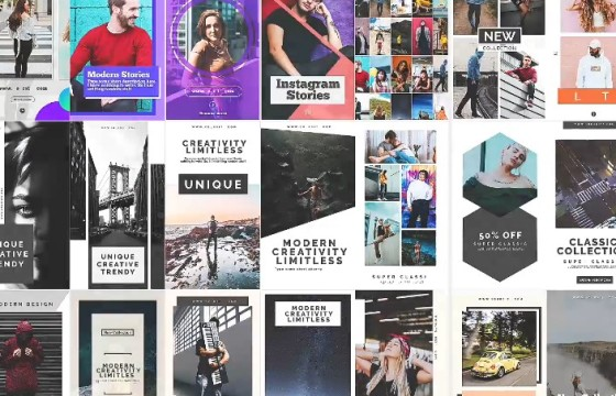 AE模板 手机朋友圈竖屏动态视频宣传广告 instagram Stories v5