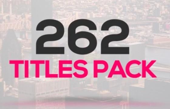 AE模板 262个文字标题排版字幕条动画 Title Pack Animation