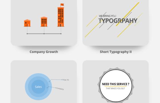 Pr模板-Mogrt基本图形模板 图表数据动态动画 Corporate Typography