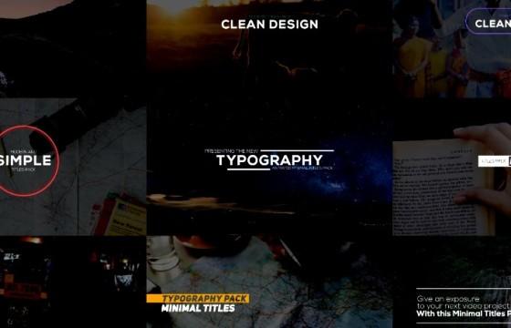 Pr模板-Mogrt基本图形模板 文本排版动画 Animated Typography