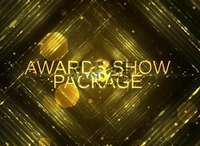 AE模板 年会颁奖典礼视频金色文字片头 Awards Show Pack Ae 模板-第1张