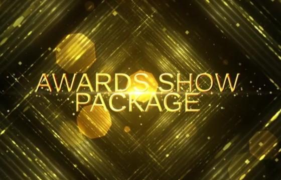 AE模板 年会颁奖典礼视频金色文字片头 Awards Show Pack