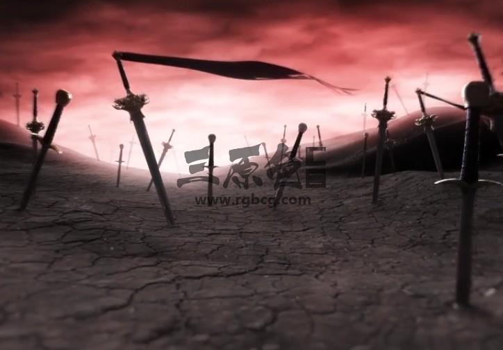 AE模板 武侠刀剑冢LOGO标志片头显示 Battle Logo Reveal Ae 模板-第1张