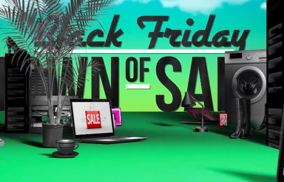 AE模板 黑色星期五购物促销广告 Black Friday Shopping Promotion