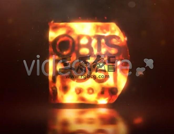 AE模板 火焰通体燃烧LOGO标志特效片头 Burn Your Logo Ae 模板-第1张