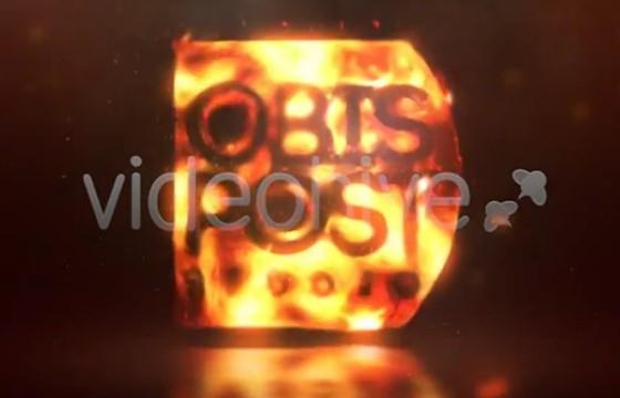 AE模板 火焰通体燃烧LOGO标志特效片头 Burn Your Logo