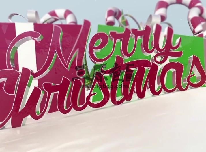 AE模板 圣诞创意贺卡礼物包装动画 Christmas Card Package Ae 模板-第1张