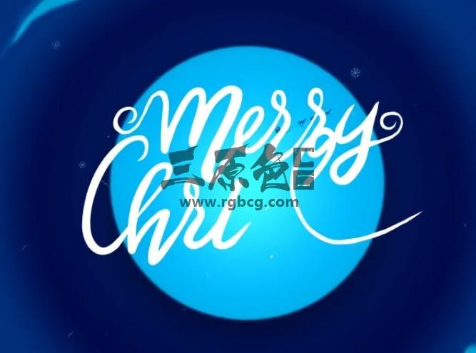 AE模板 圣诞节卡通贺卡视频片头 Christmas Cartoon Card Ae 模板-第1张