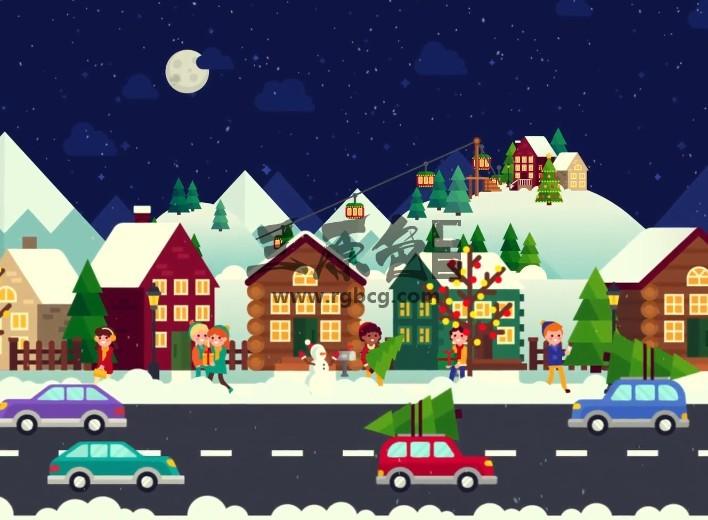 AE模板 卡通动画 圣诞节场景动画元素 Christmas Opener Ae 模板-第1张