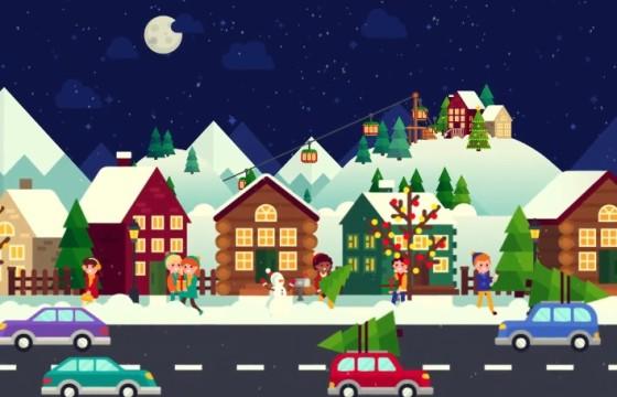 AE模板 卡通动画 圣诞节场景动画元素 Christmas Opener