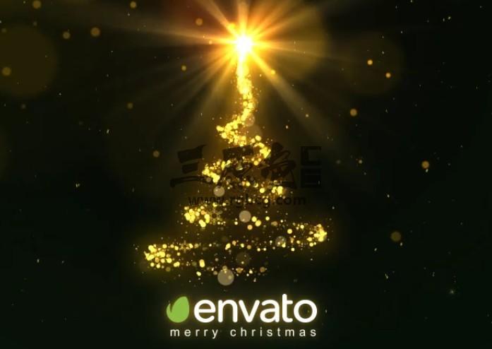 AE模板 圣诞树粒子闪耀之光 Christmas Sparkle Light Ae 模板-第1张
