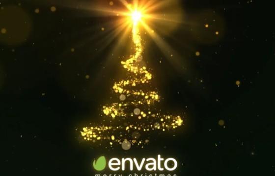 AE模板 圣诞树粒子闪耀之光 Christmas Sparkle Light