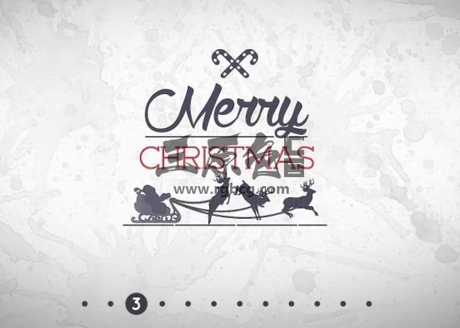 Pr模板-Mogrt基本图形模板 圣诞节文字标题 Christmas Title Pack Pr 模板-第1张