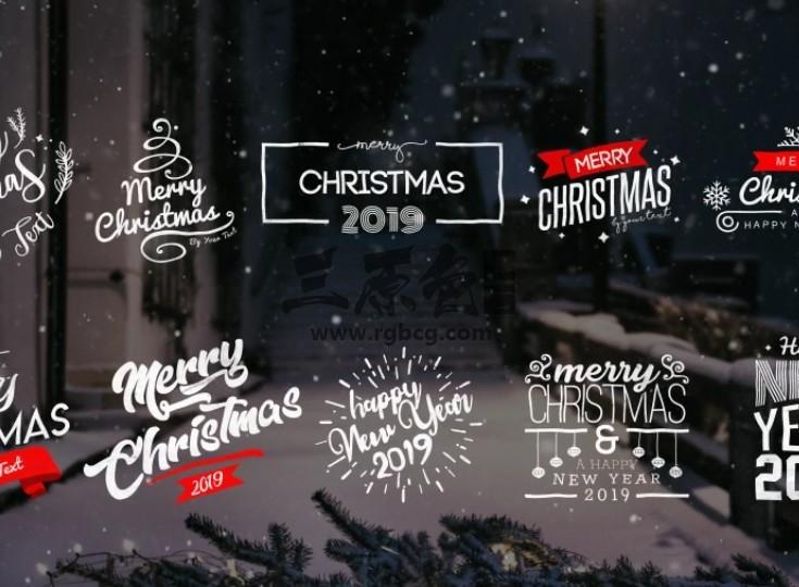 AE模板 新年春节圣诞节文本字幕条动画标题 Christmas Titles Ae 模板-第1张