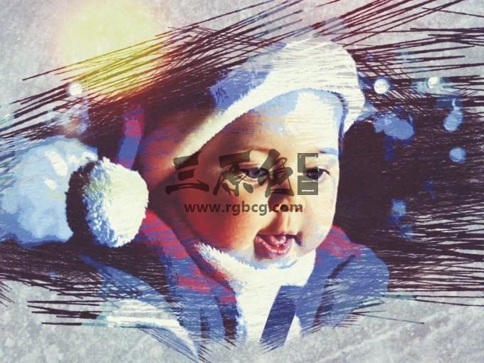 AE模板 创意冬季照片相册模板幻灯片 Christmas Winter Logo Ae 模板-第1张