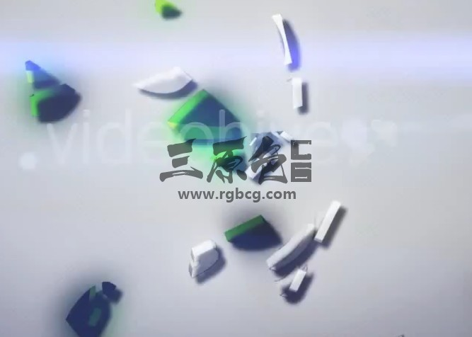 AE模板 三维LOGO碎片汇聚动画片头 Clean Logo 3D Ae 模板-第1张