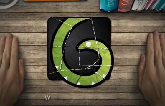 AE模板 手势拼接碎片LOGO动画模板 Collage Logo Reveal