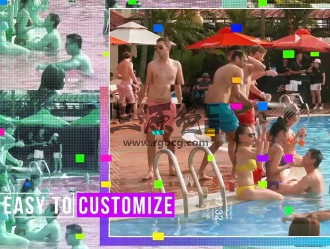 AE模板 疯狂海边泳池派对狂欢 VideoHive Crazy Party Ae 模板-第1张