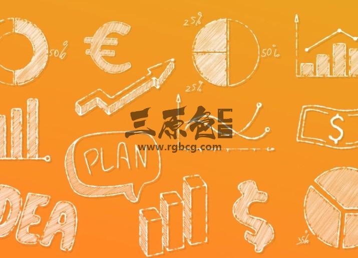 AE模板 手绘涂鸦风格图形动画元素 Doodle Business Elements Ae 模板-第1张