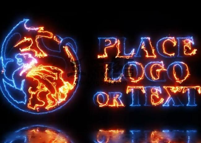 AE模板 能量火焰描边特效文字标志动画 Energy Logo Ae 模板-第1张