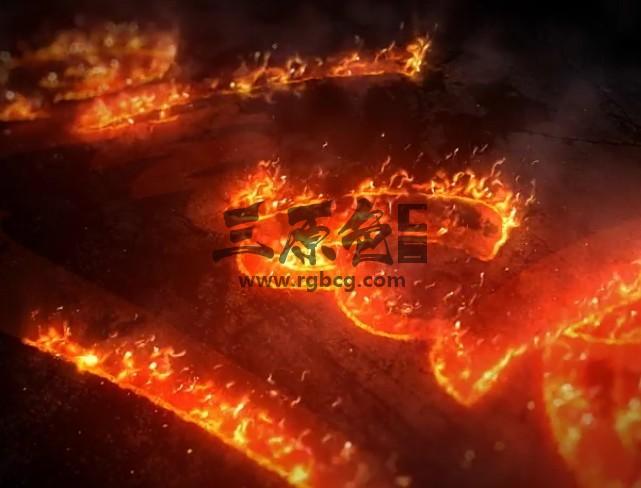 AE模板-史诗级火焰填充LOGO徽标片头 Epic Fire Logo Ae 模板-第1张