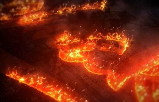 AE模板-史诗级火焰填充LOGO徽标片头 Epic Fire Logo