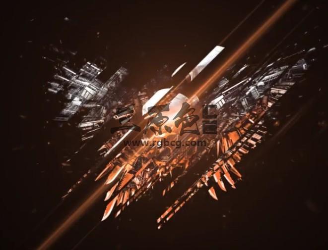 AE模板 史诗电影片头LOGO切片显示 Epic Sliced Logo Ae 模板-第1张