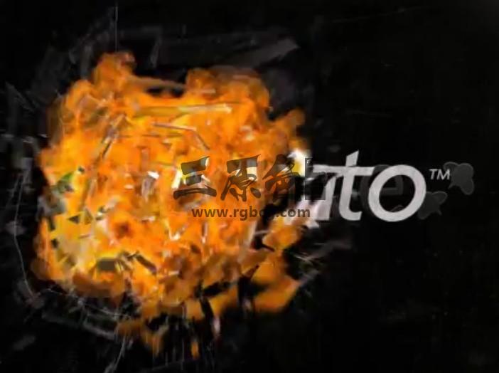 AE模板 玻璃文字LOGO标志火焰爆炸 Explosion Glass Fire Ae 模板-第1张