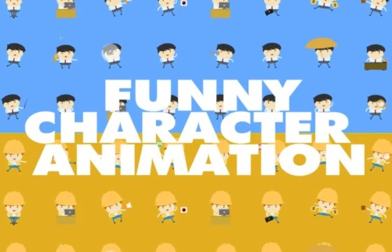 AE模板 卡通大头娃娃角色动画 Funny Character Animations