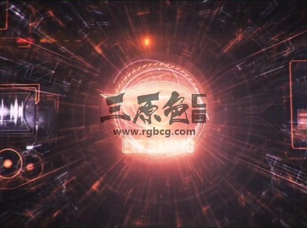 AE模板 未来抽象科幻HUD LOGO动画 Futuristic HUD Logo Reveal Ae 模板-第1张