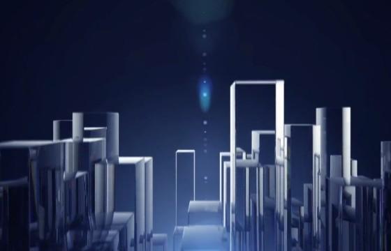 AE模板 – 透明玻璃柱LOGO标志动画 Glass Columns Logo