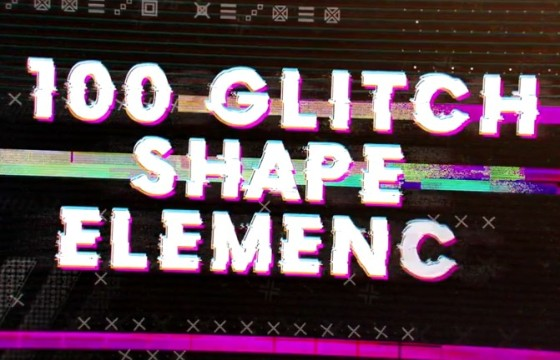 AE模板 – 失真故障混乱效果元素工具包 Glitch Elements Pack