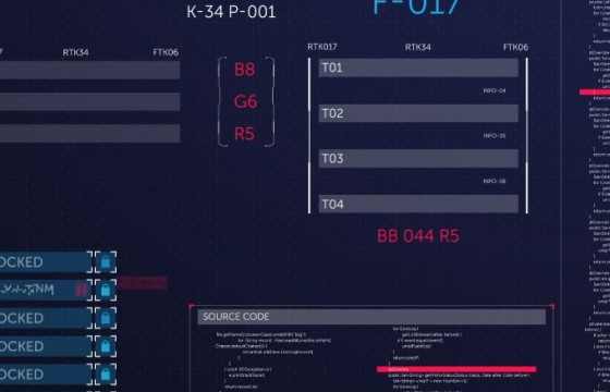 AE模板 180多个高科技科幻HUD透明动画元素 HUD Elements