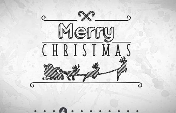 Pr模板-Mogrt基本图形模板 手绘圣诞字幕条 Hand Drawn Christmas